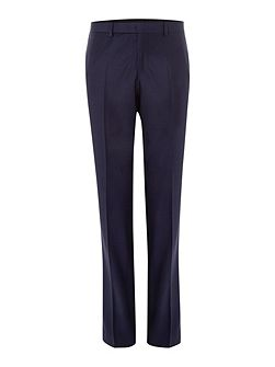 Plain Navy Slim Fit Suit Trousers