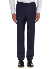 Baumler Plain Navy Slim Fit Suit Trousers