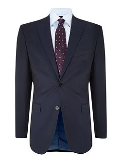 Navy Diced Checked Two Piece Suit