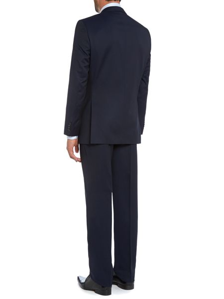 Baumler Navy Diced Checked Two Piece Suit