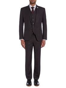 Check Notch Collar Slim Fit Suit