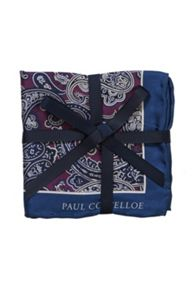 Paisley Silk Patterned Pocket Square