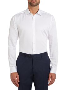 Plain Slim Fit Long Sleeve Formal Shirt