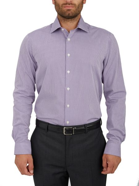 Paul Costelloe Plain Regular Fit Long Sleeve Formal Shirt
