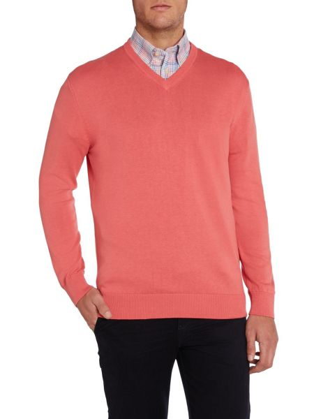 Paul Costelloe Plain V Neck Pull Over Jumper