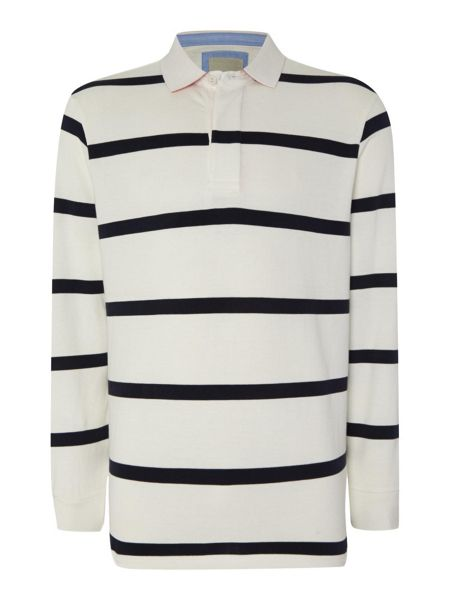 Paul Costelloe Stripe Rugby Neck Regular Fit Rugby Top