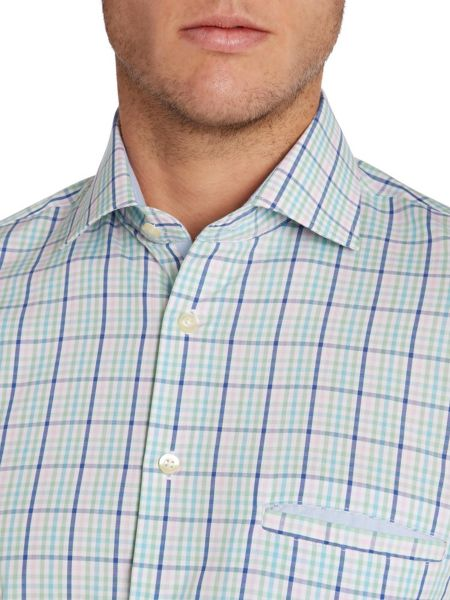 Paul Costelloe Check Classic Fit Button Down Shirt