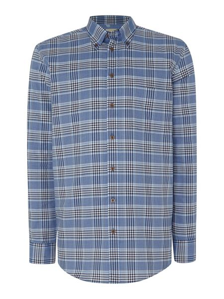 Paul Costelloe Check Classic Fit Classic Collar Shirt