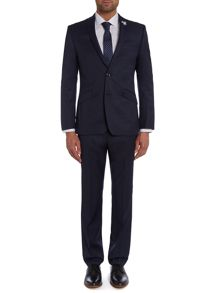 Pin Dot Notch Collar Slim Fit Suit