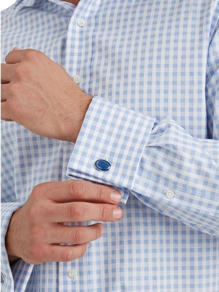 Paul Costelloe Basketweave Check Classic Fit Shirt