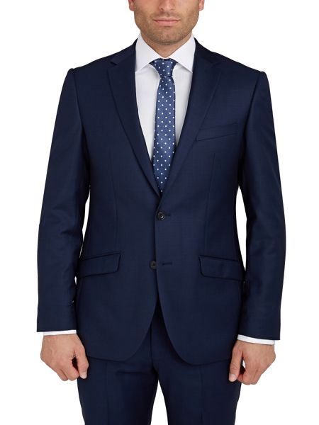 Paul Costelloe Slim Fit Navy Semi Plain Suit Jacket
