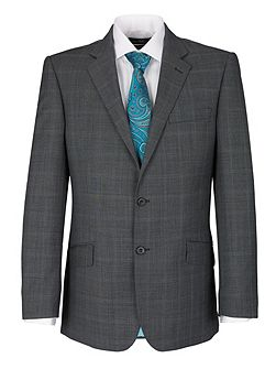 Modern Fit Grey Check Suit Jacket