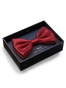 Paul Costelloe Plain Wine Bow Tie