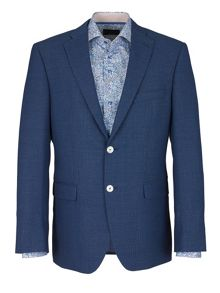 Baumler Basketweave Formal Button Blazer