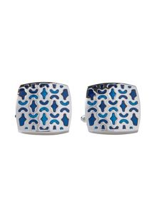 Metal Rodium Plated Cufflinks