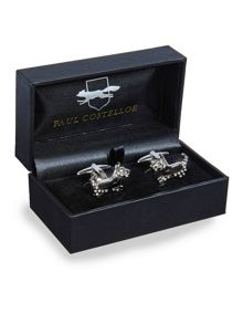Scotty Dog Rodium Plated Cufflinks