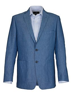 Light Blue Oxford Weave Jacket