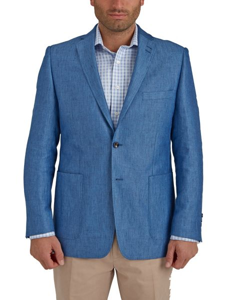Paul Costelloe Light Blue Oxford Weave Jacket