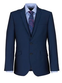 Plain Notch Collar Slim Fit Suit Jacket