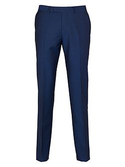 Plain Weave Slim Fit Suit Trousers