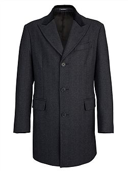 Charcoal Chadwick Herringbone Coat