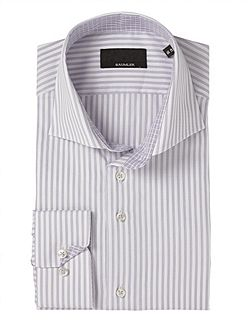 Tailored Lilac Stripe Double Cuff Shirt