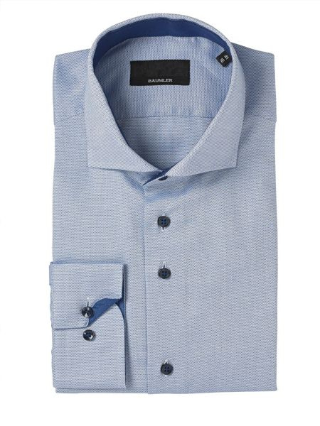 Baumler Blue Circles Print Single Cuff Shirt