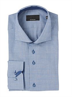 Prince of Wales Check Double Cuff Shirt