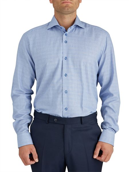 Baumler Prince of Wales Check Double Cuff Shirt
