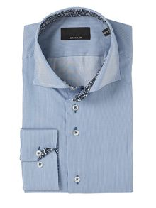 Baumler Blue Bengal Stripe Single Cuff Shirt