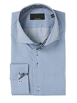 Blue Bengal Stripe Single Cuff Shirt