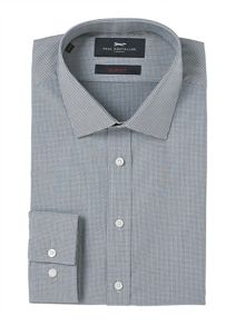 Paul Costelloe Slim Fit Navy Micro Circles Print Shirt