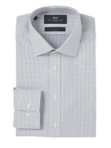 Paul Costelloe Slim Fit Blue Pebble Print Shirt
