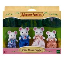 Sylvanian Families White Mouse Family Set