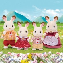Sylvanian Families Chocolate Rabbit Family Set