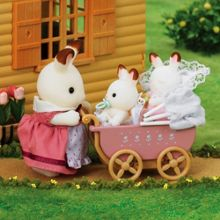 Sylvanian Families Baby Chocolate Rabbit Twins