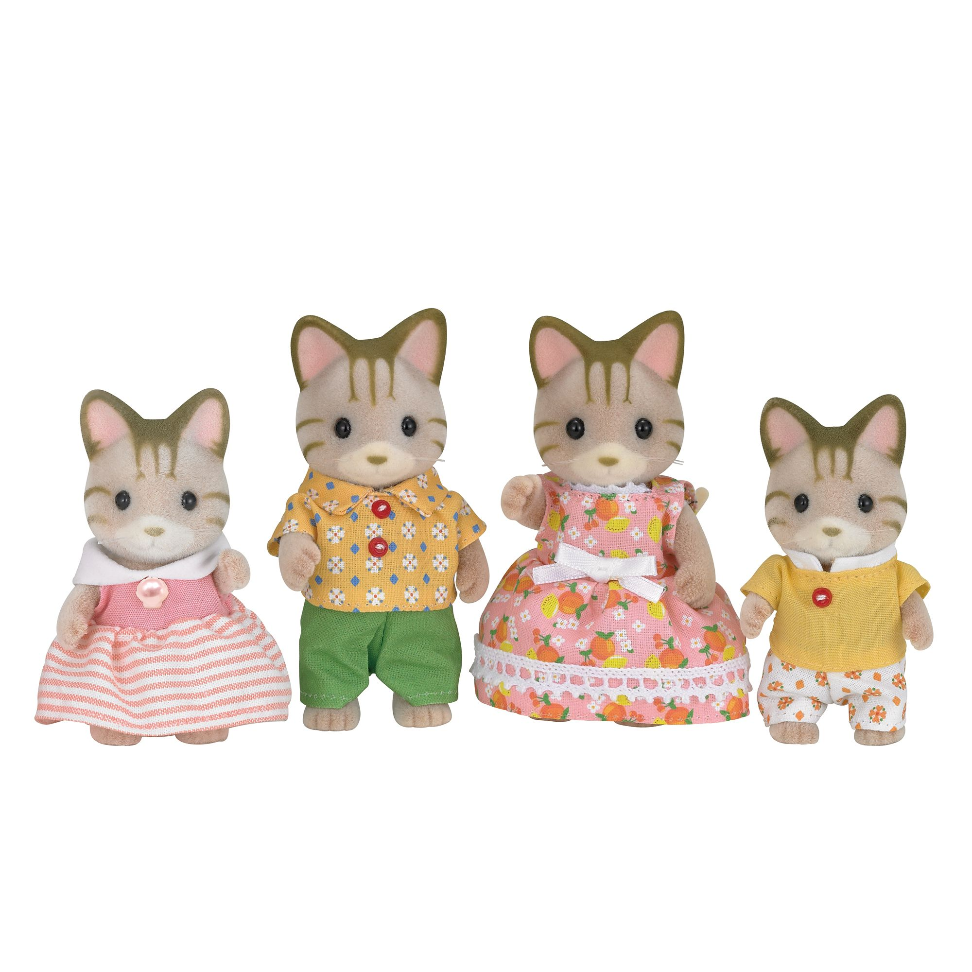Sylvanian Families Striped Cat Family Set