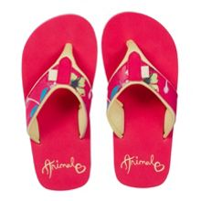 Girls swish upper aop flip flops