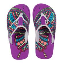Girls swish aop flip flops