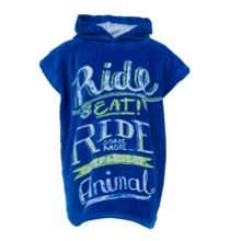 Boys ride towel poncho