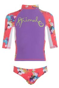 Girls pozo rash vest set