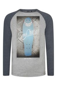 Animal Boys Cheem raglan long sleeve t-shirt