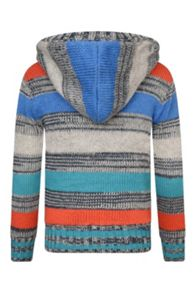 Boys Docked full zip knitted hoodie