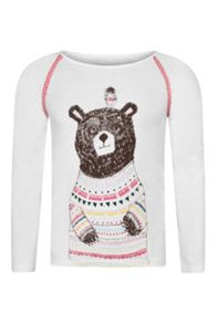 Girls Beau Bear long sleeve  t-shirt