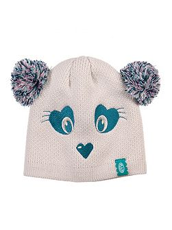 Girls Mollines knitted character beanie