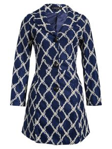 Chase 7 Diamond Chain Print Coat