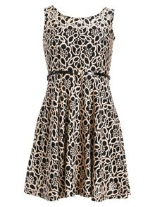 Chase 7 Floral Lace Skater Dress