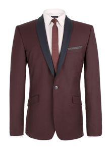 Plain Shawl Neck Slim Fit Suit Jacket