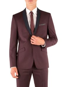 Limehaus Plain Shawl Neck Slim Fit Suit Jacket