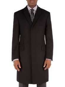 Melton Formal Button Overcoat